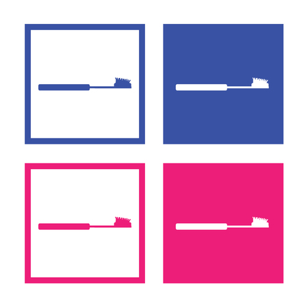 toiletries: Vector toothbrushes icon, Illustration EPS10 great for any use.