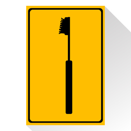 toiletries: Vector toothbrushes icon, Illustration   great for any use.
