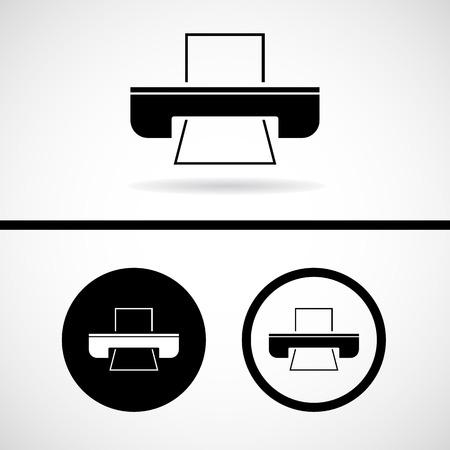 Vector flat printer icon, Illustration