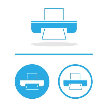 multifunction printer: Vector flat printer icon, Illustration