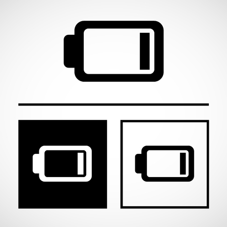 low battery: Vector low battery icon, Illustration EPS10