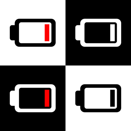 battery icon: Vector low battery icon, Illustration EPS10