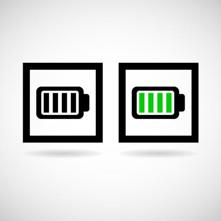 battery icon: Vector battery icon, Illustration   Illustration