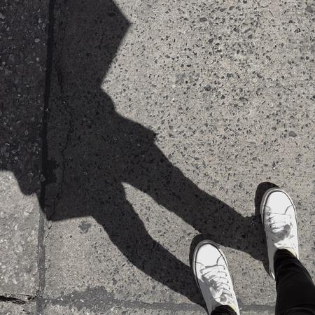 Shadow person. Selfie