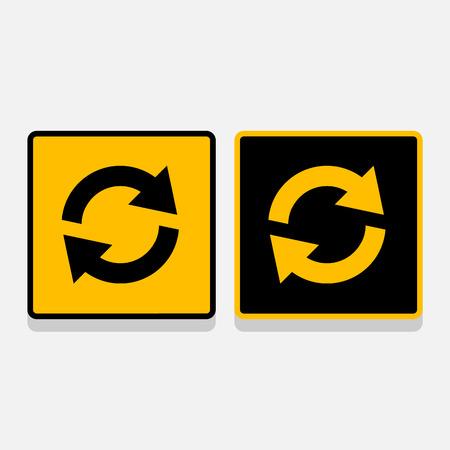 command button: Vector media refresh icon set, Illustration