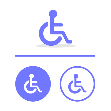 disabled icon sign, Illustration.