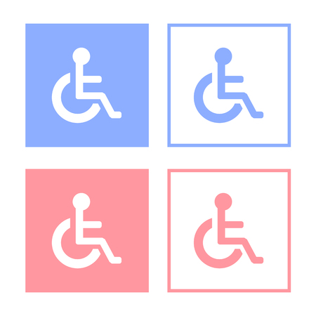 wheelchair access: disabled icon sign, Illustration.