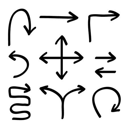 Vector hand drawing arrows vector set, Illustration EPS10 Stock Illustratie