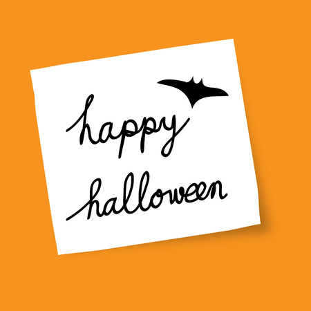 text messaging: Happy Halloween Text Banner, Illustration