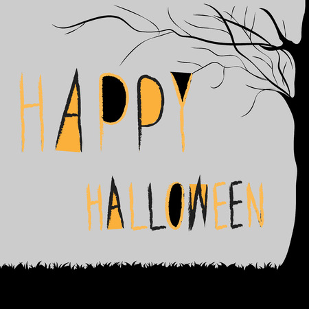 title: Happy Halloween Title, Illustration