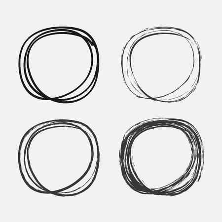 pencil drawings: hand drawn circles