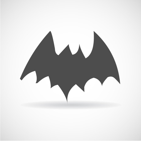 horrify: silhouettes of bats, Illustration