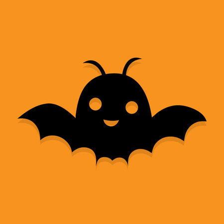 horrify: silhouettes of bats, Illustration
