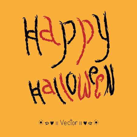 hand lettering: Vector Happy Halloween! hand lettering Illustration