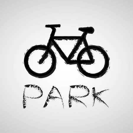 parking sign: Vector bicycle parking sign,  great for any use. Illustration