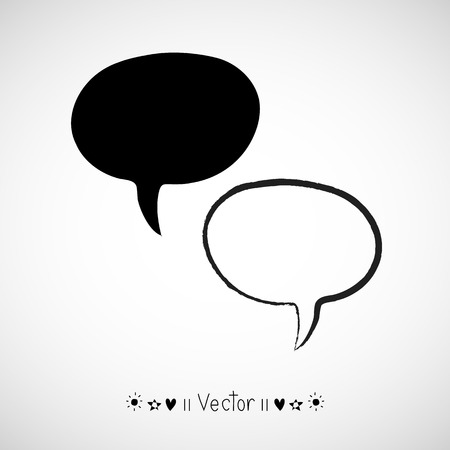 cartoon cloud: Vector hand drawn bubble speech, Illustration EPS10 great for any use. Illustration