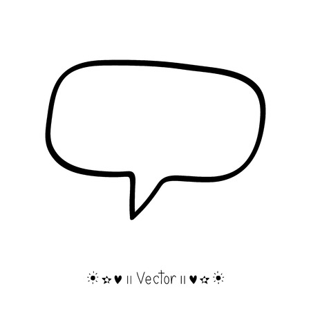 speech icon: Vector hand drawn bubble speech, Illustration EPS10 great for any use. Illustration