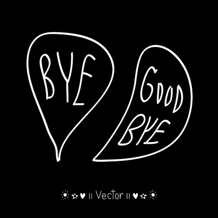 "the farewell: Vector dibujado a mano con letra ""Adi�s"", ilustraci�n EPS10 Vectores"
