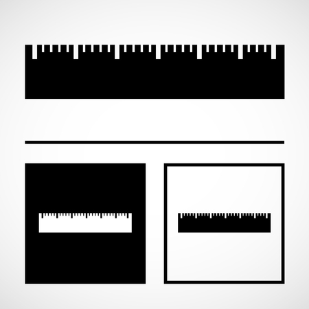 inch: Vector the ruler icon, Illustration EPS10 great for any use.