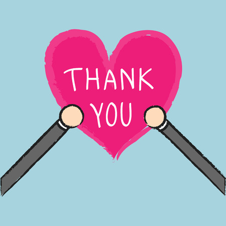 thank you sign: Vector businessman holding thank you sign, Illustration EPS10 great for any use. Illustration