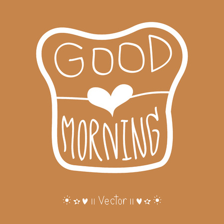 morning: Vector good morning, hand lettering text, handmade calligraphy, Illustration