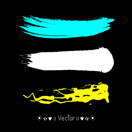 Vector kleurrijke vector aquarel penseelstreken