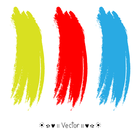 dub: Vector colorful vector watercolor brush strokes Illustration