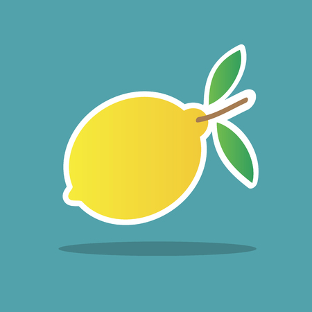 simple cross section: Vector fresh lemon icon