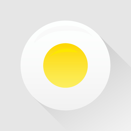 fried: Vector scrambled eggs icon, Fried egg.  Illustration