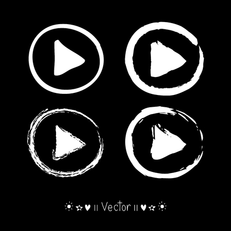 mp: Vector Hand Drawn Play Icon, Sketch Symbol. Illustration EPS10 great for any use.