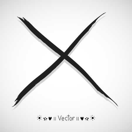ex: Vector hand painted X marks. Illustration EPS10 great for any use.