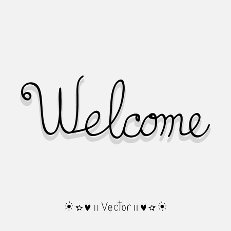 Simple Welcome sign