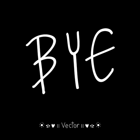 bye: Vector goodbye bye comic bubble text pop art retro style, Illustration great for any use.