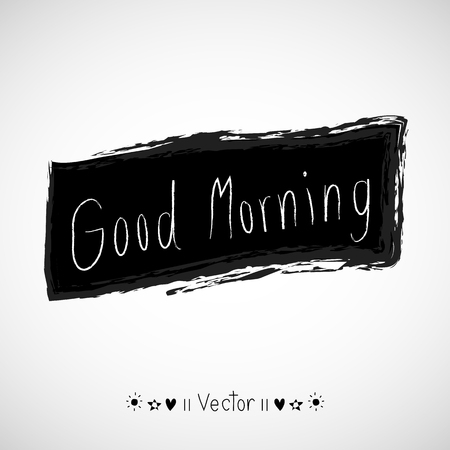 moods: Vector good morning, hand lettering text, handmade calligraphy, Illustration great for any use.