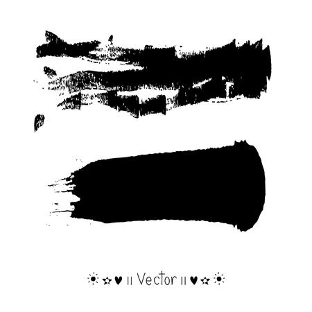Vector penseelstreek, illustratie