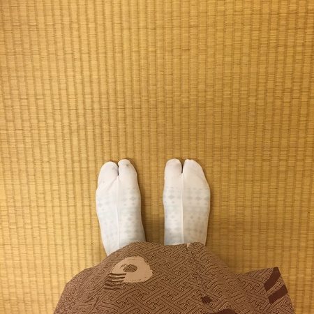 print: Wooden Shoes of Japanese Geisha