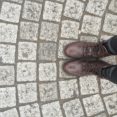 jeans: Legs and shoes. Conceptual image of legs in boots. Feet shoes walking in nature