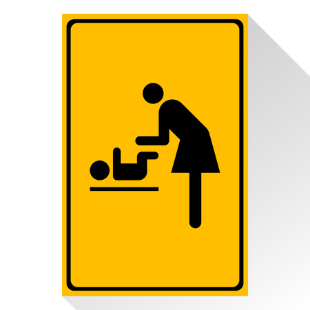 changing room: Vector symbol for women and baby , baby changing great for any use. Illustration