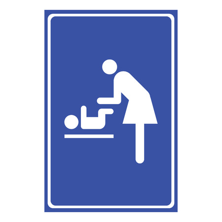 changing: Vector symbol for women and baby , baby changing great for any use. Illustration