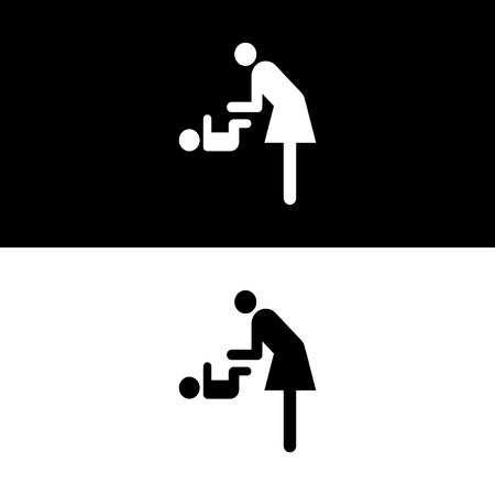 baby changing sign: Vector symbol for women and baby , baby changing great for any use. Illustration