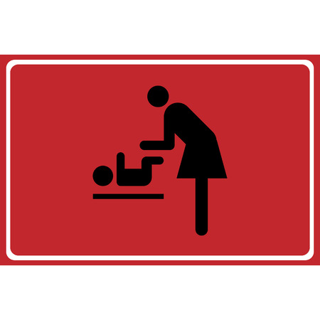 baby changing sign: Vector symbol for women and baby , baby changing