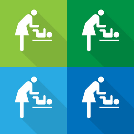 loo: Vector symbol for women and baby , baby changing great for any use. Illustration