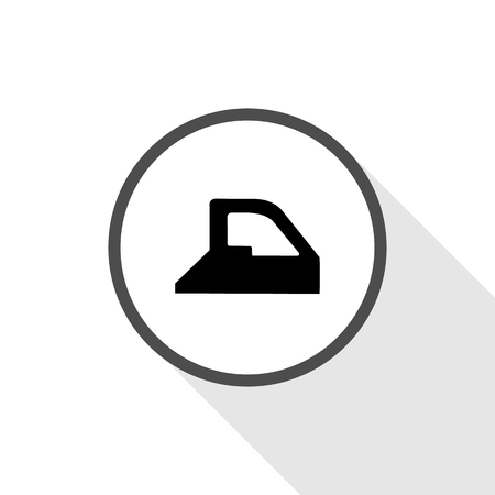 steam iron: Simple icon iron with steam great for any use.