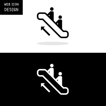 escalator: Vector Escalator Icon Great For Any Use.