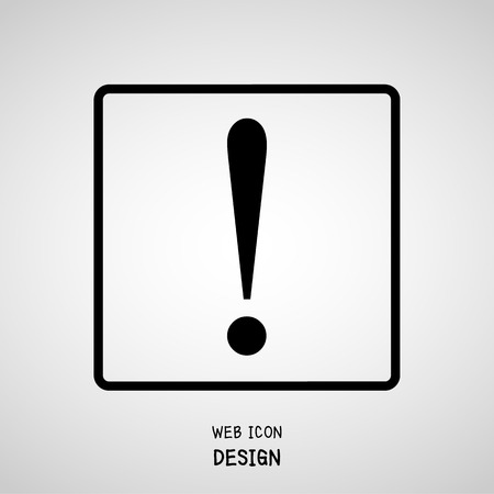 attention icon: Vector Attention Icon Great For Any Use. Illustration