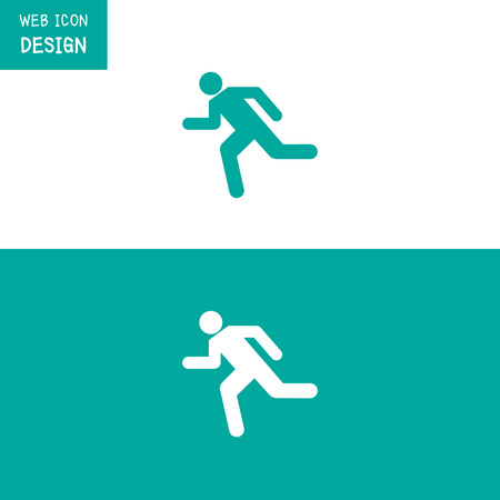 running icon: Vector Running Icon Great For Any Use.