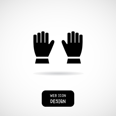 latex glove: Gloves flat design, Construction work gloves great for any use.