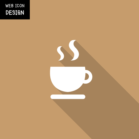 great coffee: Vector coffee cup icon great for any use. Illustration