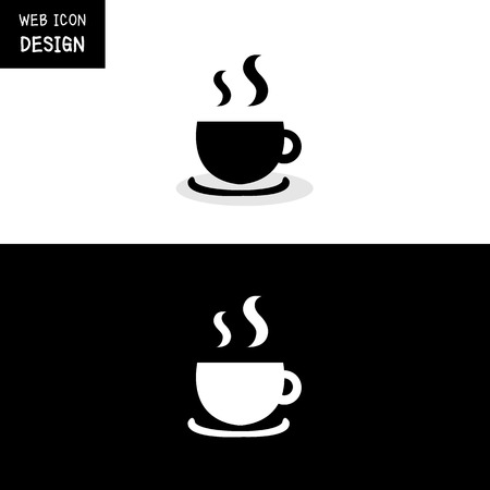 long bean: Vector coffee cup icon great for any use. Illustration