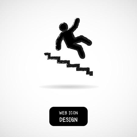 Vector Slippery trap waarschuwingsbord illustratie op een witte achtergrond groot voor om het even welk gebruik.